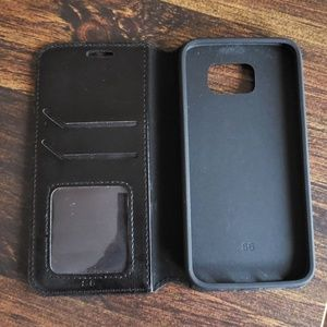 Other - Black wallet/phone case combination for Galaxy S6